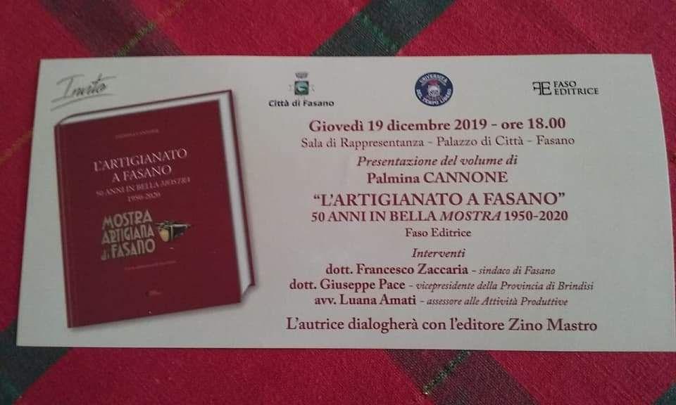 Read more: Presentazione del libro L'ARTIGIANATO A FASANO