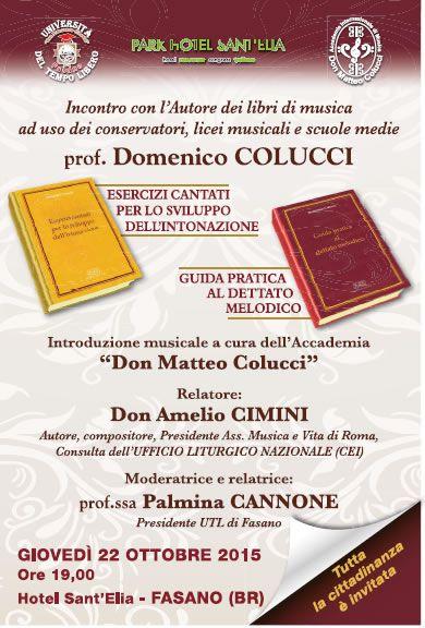 Read more: Incontro con l'autore dei libri di musica Prof. Domenico Colucci - giovedi 22 ottobre 2015