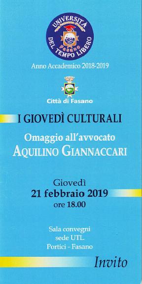 Read more: Omaggio all'avvocato Aquilino Giannaccari