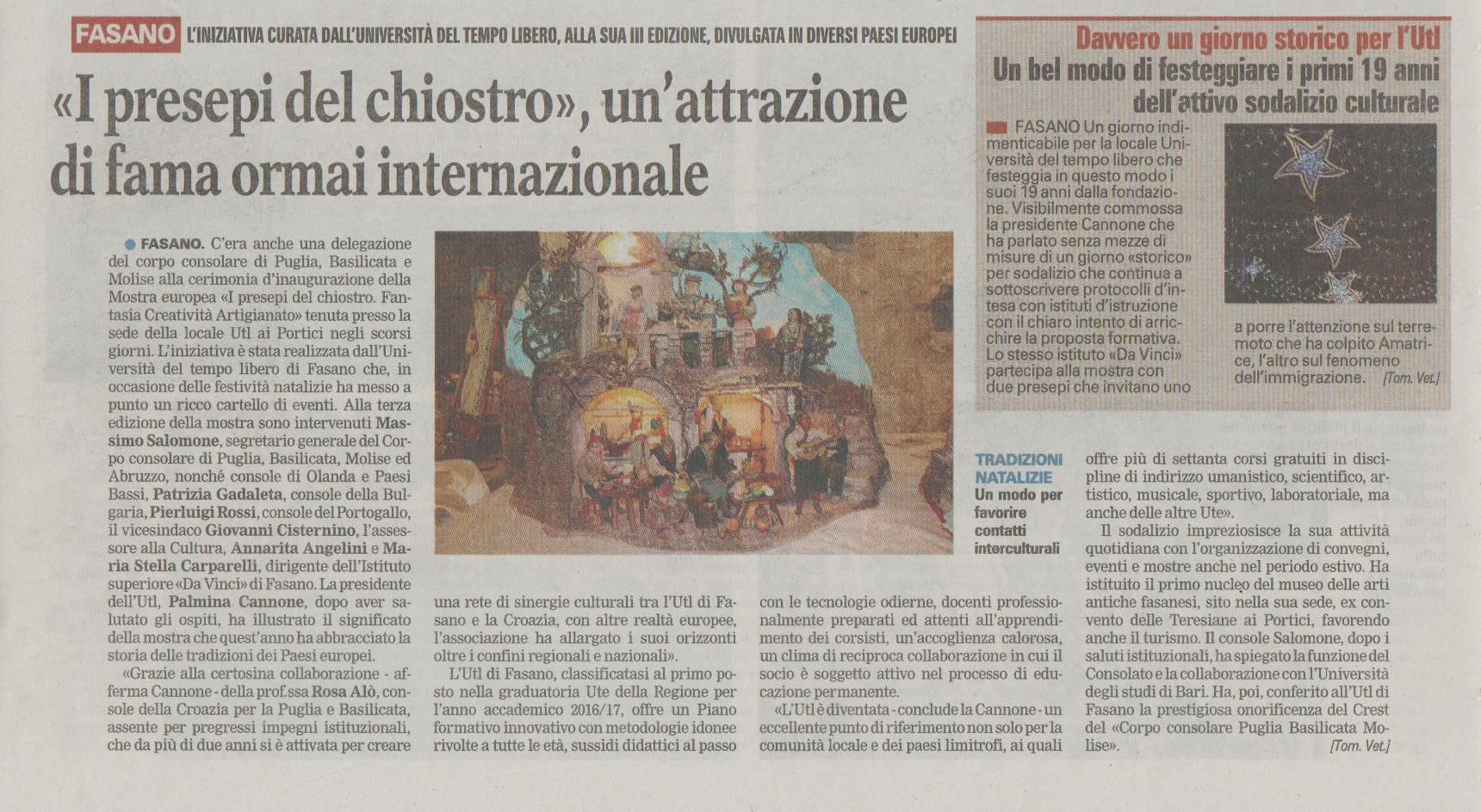 Read more: La mostra europea dei Presepi su La Gazzetta del Mezzogiorno