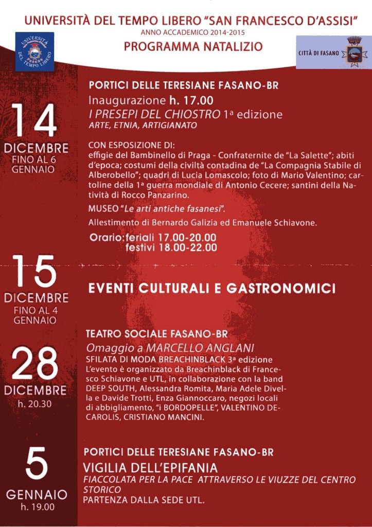 Read more: PROGRAMMA NATALIZIO 2014