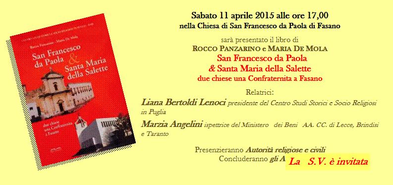 Read more: Presentazione del libro di ROCCO PANZARINO e MARIA DE MOLA
