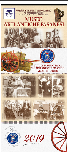 Read more: L'Artigianato fasanese nel calendario 2019 dell'UTL